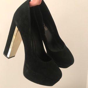 Aldo Platform Black High Heels